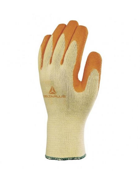 FIPCENTER-Gant tricot polycoton paume enduite latex-VE730OR