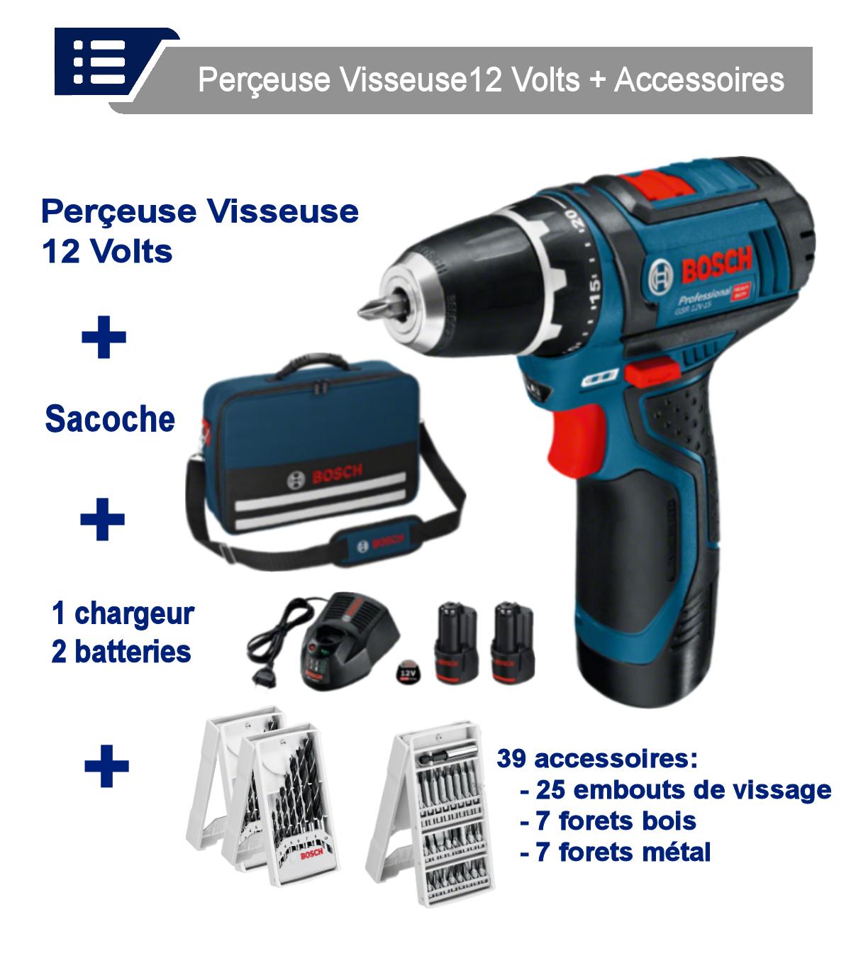 Perceuse gsr 12v-15