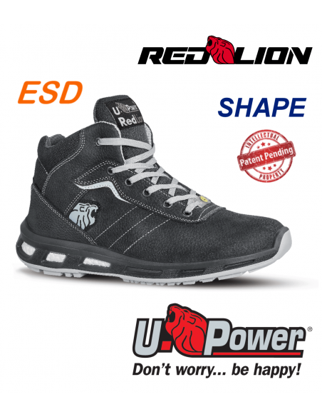 FIPCENTER-Chaussure de sécurité montante UPOWER look basket REDLION SHAPE S3 SRC ESD-RL10114
