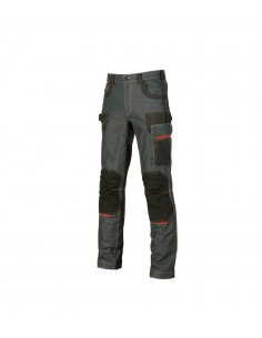 FIPCENTER-Pantalon de travail jeans stretch et Cordura PLATINUM Button U-Power-EX069RJ