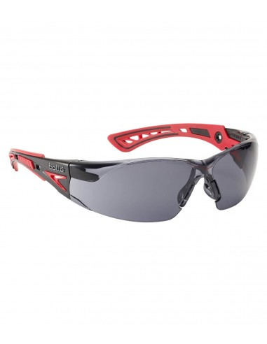 bea35bb06fa999 FIPCENTER-Lunettes protection RUSH+ Bollé safety Rouge Noire, verre fumé -RUSHPPSF