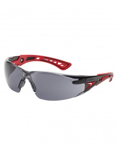 60f38ca083380a FIPCENTER-Lunettes protection RUSH+ Bollé safety Rouge Noire, verre  fumé-RUSHPPSF