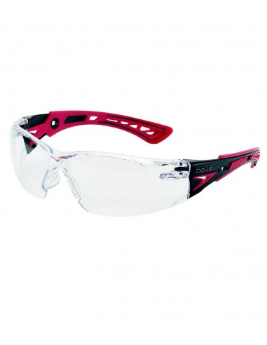 FIPCENTER-Lunettes protection RUSH+ Bollé safety Rouge  Noire, verre  incolore-RUSHPPSI a99a3d54b29a