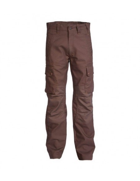 FIPCENTER-Pantalon uni artisans BTP craft worker-9054 marron