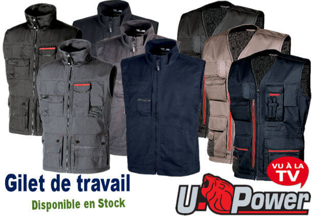 Gilets de travail U-POWER