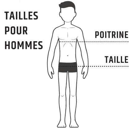 Guide tailles hommes SNV